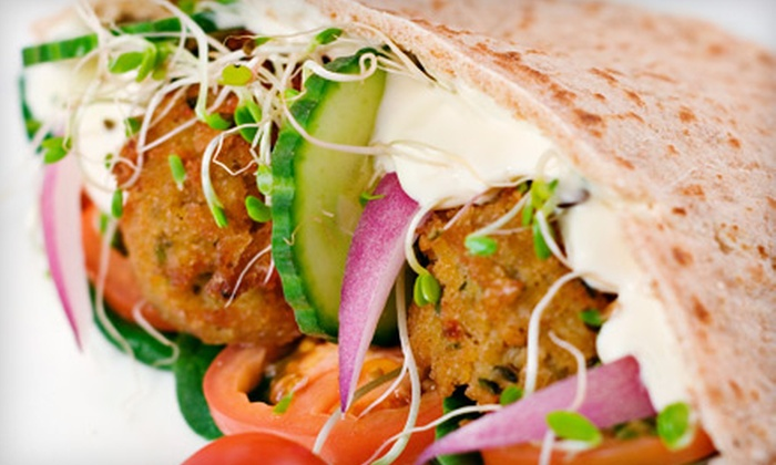 Simply Falafel - Brentwood: Sandwich or Platter Meal for Two at Simply Falafel in Edmond (Up to 54% Off)