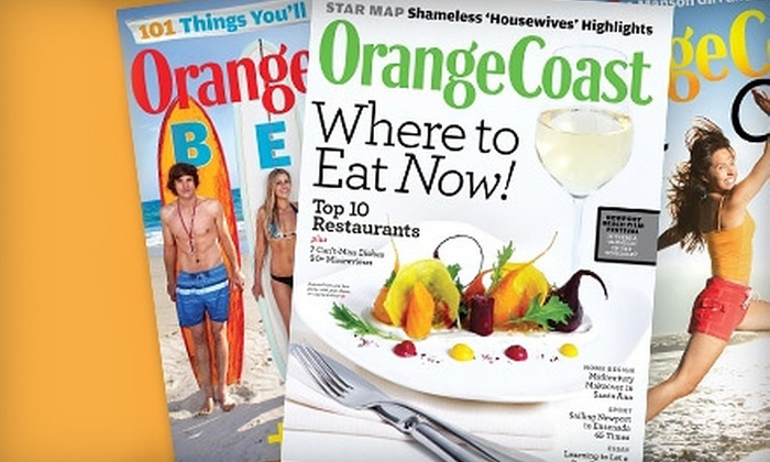 "Orange Coast - South Coast: $6 for a One-Year Subscription to ""Orange Coast "" Magazine ($12 Value)"