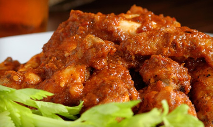 Wing Station - Far West Side: Casual American Dinner for Two or Four at Wing Station