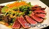 Theory - Near North Side: $10 for $25 Worth of Fusion Barbecue Fare and Drinks at Theory Sports Lounge