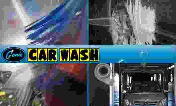 Genie Car Washes - Multiple Locations: $39 for a Platinum Car-Wash Package at Genie Car Wash