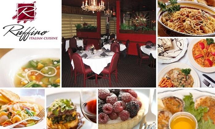 Ruffino Italian Cuisine - Ahwatukee Foothills: $10 for $25 Worth of Food and Drink at Ruffino Italian Cuisine
