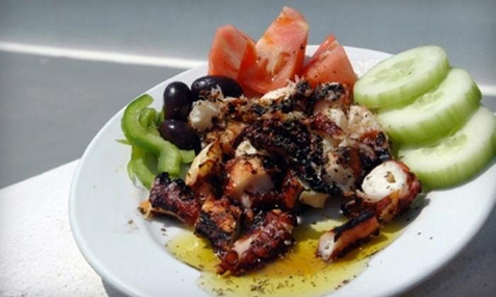 Odyssey Greek Taverna - Multiple Locations: $15 for $30 Worth of Hellenic Fare and Wine at Odyssey Greek Taverna