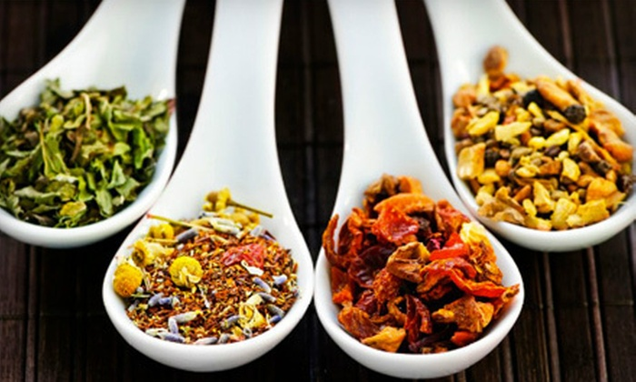 t, an urban tea house - Central Oklahoma City: Loose-Leaf Tea Sampler Set or $7 for $15 Worth of Tea at t, an urban tea house