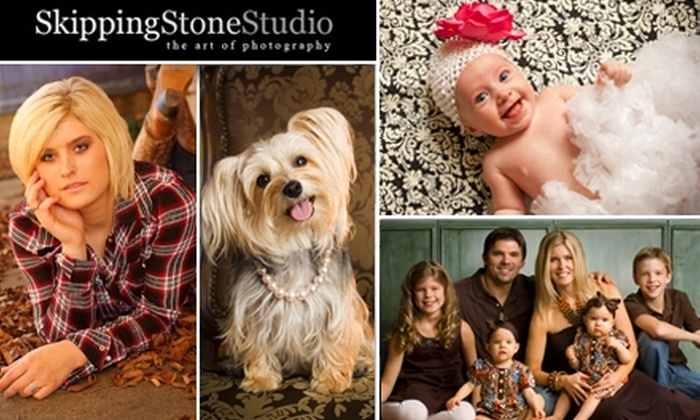 """Skipping Stone Studio - Commerce Business Park: $49 for a 30-Minute In-Studio Photo Session, One Mounted 11""""x14"""" Signature-Finish Photo, and Two 5""""x7"""" Traditional-Finish Photos at Skipping Stone Studio ($387 Value)"""