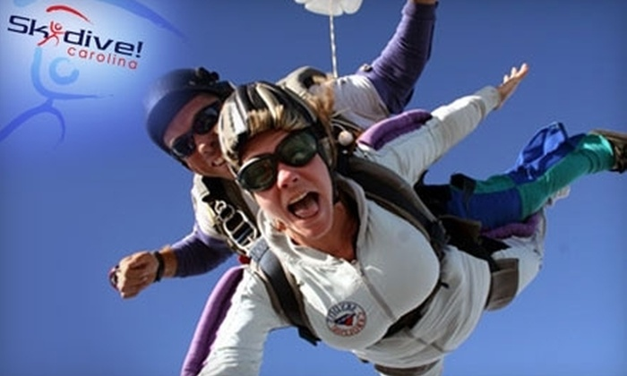 Skydive Carolina! - Chester: $124 for One Tandem Jump with an Instructor at Skydive Carolina! in Chester, SC (Up to $209 Value)