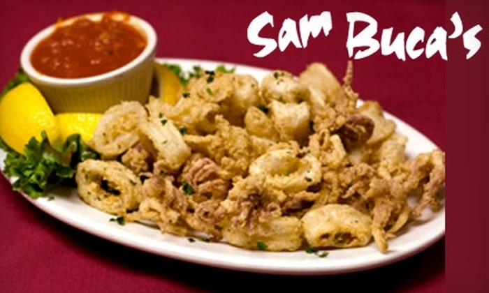 Sam Buca's Restaurant and Bar - Palos Heights: $20 for $40 Worth of Italian Fare and Drinks at Sam Buca's Restaurant and Bar in Palos Heights