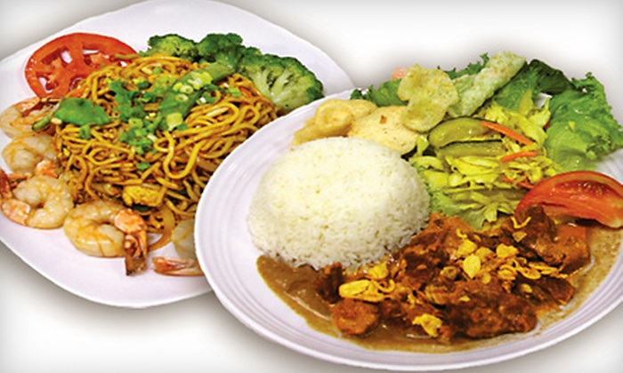 The Noodle Bowl - Oakdale: $12 for an Asian Dinner for Two with Appetizer at The Noodle Bowl (Up to $24.15 Value)
