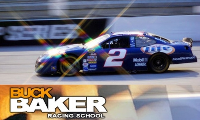 Buck Baker Racing School - Multiple Locations: $150 for 15 Total Laps of Riding and Driving a NASCAR Stock Car at Buck Baker Racing School ($395 Value)