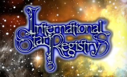 $107.50 Groupon to International Star Registry - International Star Registry in
