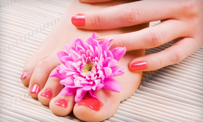 Simply Nails by Lisa - Glen Eden: Mani-Pedi with Paraffin Dip or Deluxe Mani-Pedi at Simply Nails by Lisa (Up to 51% Off)