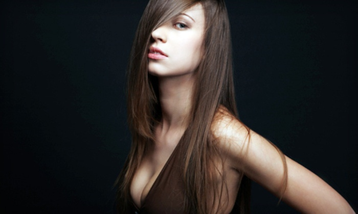 Kristi Grubb at Firewheel Salons - Firewheel Salons & Spa: $89 for a Global Keratin Hair-Straightening Treatment and a Haircut from Kristi Grubb at Firewheel Salons in Garland ($180 Value)