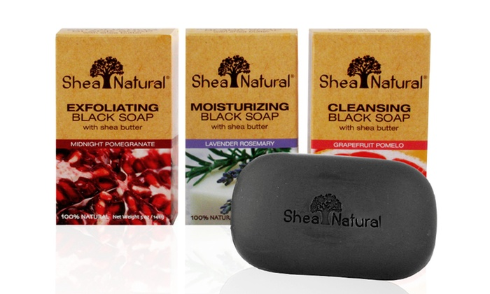Shea Natural – Black Soap – 3 Bar System: $13.99 for a Black Soap with Shea Butter System (Three 5 oz. Bars) ($29.97 List Price)