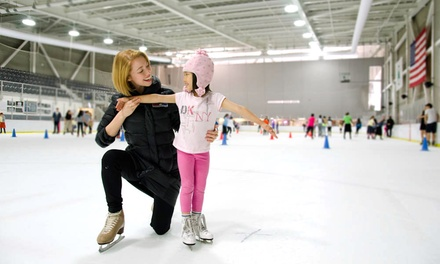 Introductory Group Lesson for One, Two or Four with Public Skating Session & Rental at World Ice Arena (Up to 51% Off)