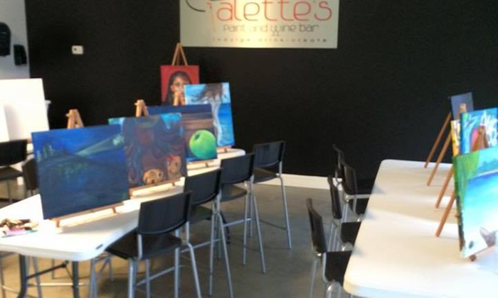Palette's Paint And Wine Bar - Fayetteville: $16 for $35 Paint Class — Palette's