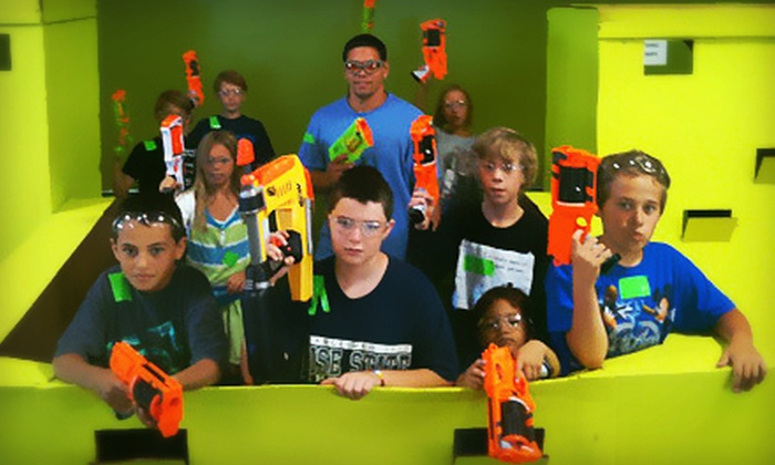 Dart Zone - Southeast Meridian: Two Hours of Nerf Tag for Two or Four, or 10 Total Hours of Nerf Tag at Dart Zone (Half Off)