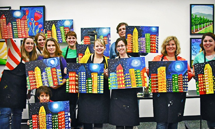 Glazed Expressions - Glazed Expressions: Adult BYOB Canvas-Painting Session for One or Two at Glazed Expressions (Up to 59% Off)