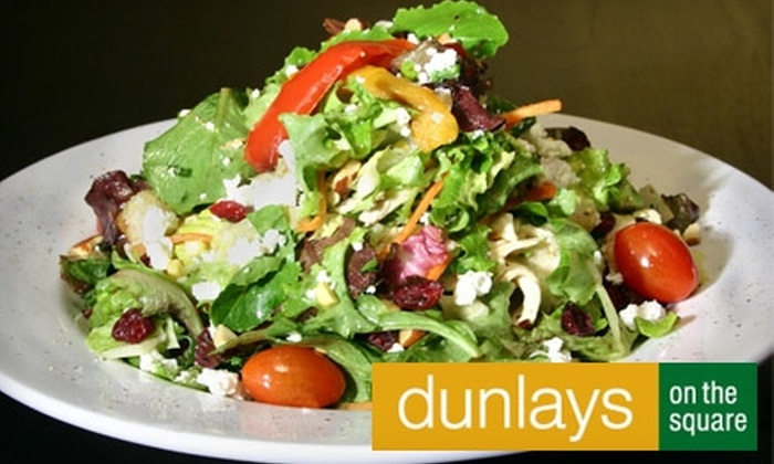 Dunlays on the Square - Logan Square: $15 for $30 Worth of Grill Fare and Drinks at Dunlays on the Square