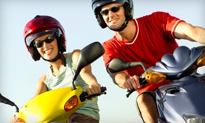Fun Rentals - Multiple Locations: Scooter Rentals from Fun Rentals. Two Options Available.