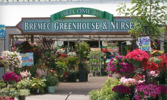 Bremec Greenhouses & Nursery - Multiple Locations: $10 for $20 Worth of Plants and Garden Supplies at Bremec Garden Centers