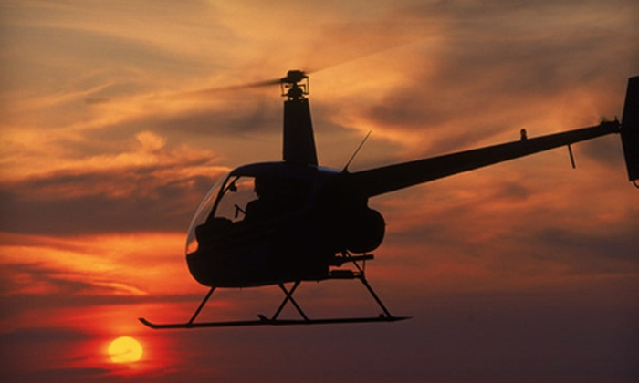 Charleston Helicopters - North Charleston: $149 for a Couples Sunset Flight with Champagne and Strawberries from Charleston Helicopters ($349 Value)