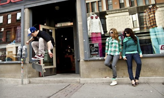 Ballistic Skate & Snow - Downtown: $25 for $50 Worth of Apparel, Footwear, and Extreme Sports Gear at Ballistic Skate & Snow
