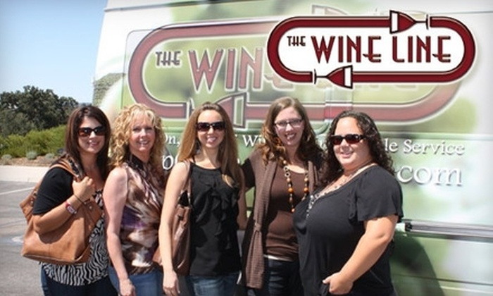 The Wine Line - Modesto: $49 for a Wine Tour, Tasting, Lunch, and Wine Glass from The Wine Line