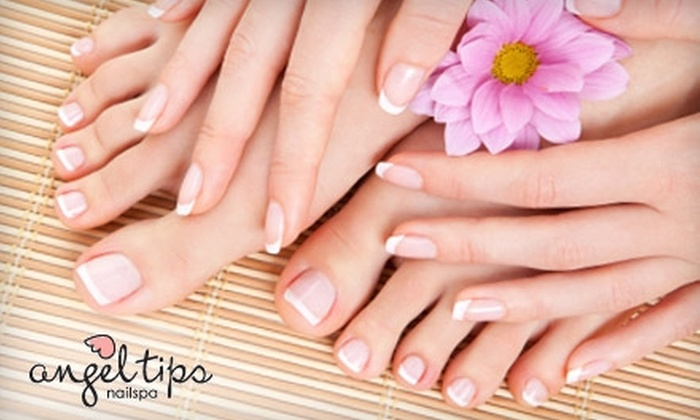Angeltips - Oceanside: $35 for an Angel Deluxe Spa Pedicure, Manicure, and 10-Minute Chair Massage at Angeltips in Oceanside ($78 Value)