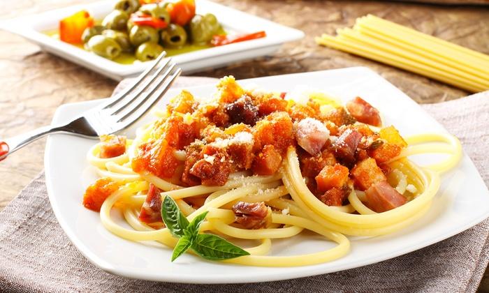 Menu italien au dolce vita restaurant dolce vita groupon for Dolce tipico romano