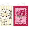 Valentine's Day Evergreetings Garden Flag and Greeting Card