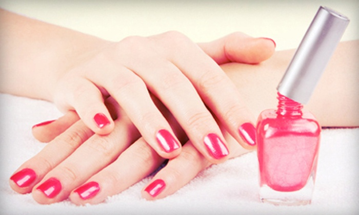 TG Nail Salon - Multiple Locations: $40 for Two No-Chip Manicures or Regular Mani-Pedis at T.G. Nail Salon ($80 Value)