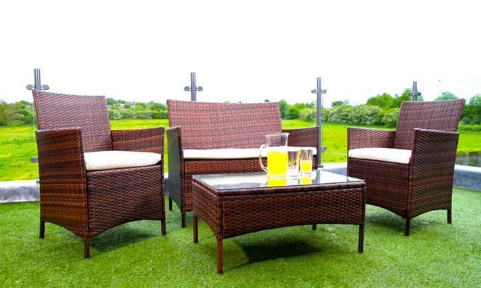 rattan effect garden furniture groupon goods. Black Bedroom Furniture Sets. Home Design Ideas