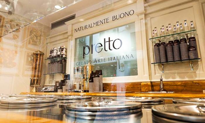 Pretto - Ancona: Pretto - Fino a 2 kg di gelato artigianale a scelta con coni o cialde da 9,90 € in centro
