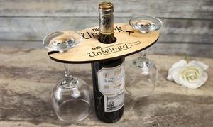 Cabanyco Llc: Uno o 2 porta bicchieri da vino personalizzabili in legno offerti da Cabanyco (sconto fino a 64%)