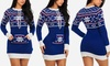 Junior's Holiday Long Sleeve Sweater Mini Dress (Size M)
