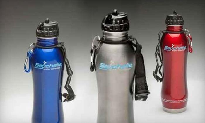 WaterCheck.biz: $15 for a Seychelle Self-Filtering Eco Water Bottle from WaterCheck.biz ($29.88 Value)