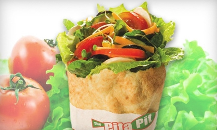 Pita Pit - Downtown: Pita Meal for Two with Sides and Drinks or Five Pitas at Pita Pit
