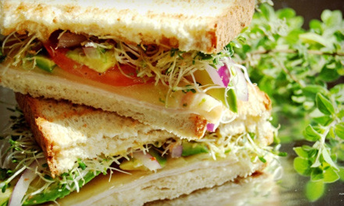 Sage Cafe - Newnan: Catered Sandwich Meal for Eight or Café Fare and Drinks at Sage Cafe in Newnan (Up to 59% Off). Three Options Available.