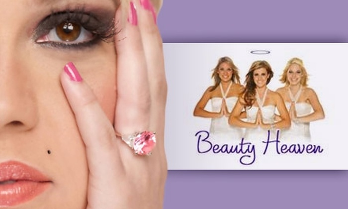 Beauty Heaven - Irvine Business Complex: $45 for a No-Chip Color-Gel Manicure and Women's Haircut with Wash, Blow-Dry, and Color Consultation at Beauty Heaven ($100 Value)