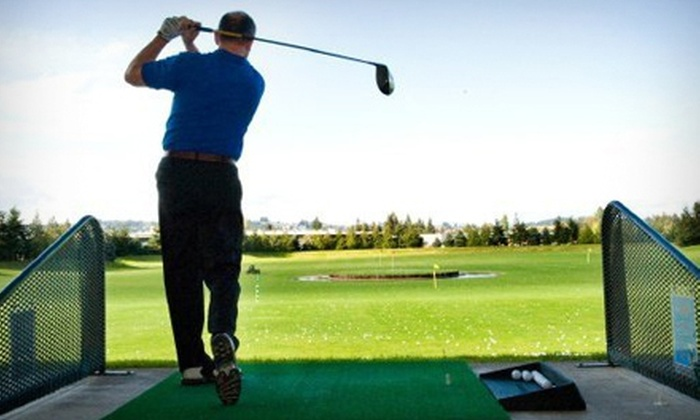 Tualatin Island Greens - Sherwood - Tualatin South: $20 for Three Buckets of Driving-Range Balls and $10 Worth of Grill Fare at Tualatin Island Greens (Up to $43 Value)