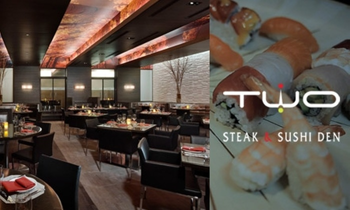 Two Steak and Sushi Den - North New Hyde Park: $15 for $30 Worth of Sushi, Steaks, and Gourmet Fare at Two Steak & Sushi Den