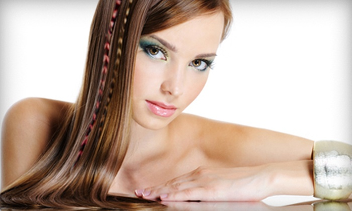 Invidia Salon - Waterford: Haircut with Feather Extensions, Waxing, or Hair Services at Invidia Salon in Waterford