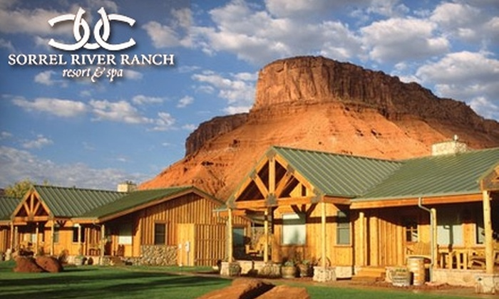 Sorrel River Ranch Hotel & Spa Resort - Moab: $199 for a One-Night Stay, Two Boxed Lunches, and a $100 Resort Certificate at Sorrel River Ranch Hotel & Spa Resort (Up to $588.50 value)