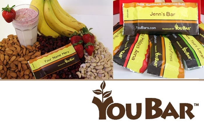 You Bar - Boston: $12 for $25 Worth of Custom Nutrition Bars, Shakes, Trail Mix and Cookies from You Bar