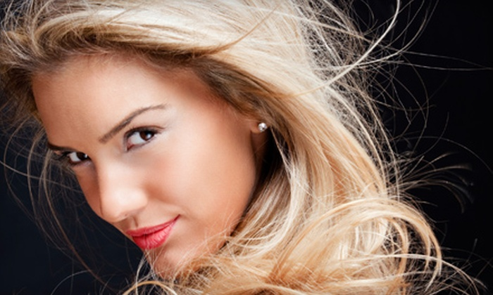 Salon 330 - Simpsonville: $75 for  Haircut and Style, Deep-Conditioning Treatment, Partial Foil, and Facial Wax at Salon 330 ($160 Value)