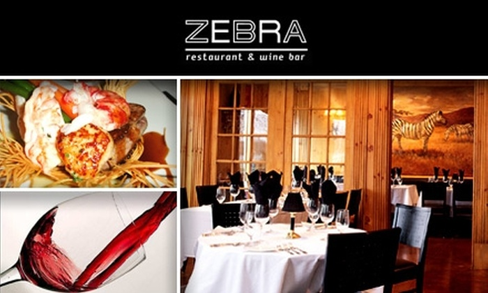 Zebra Restaurant and Wine Bar - Foxcroft: $30 for $75 Worth of French Cuisine and Wine at Zebra Restaurant and Wine Bar