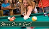 Steve's Cue & Grill - Huntsville: $5 for $10 Worth of Burgers, Sandwiches, Salads, and More Plus One Hour of Pool (Monday & Saturday) at Steve's Cue and Grill