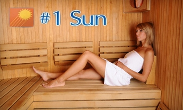#1 Sun Tanning Salon & Spa - Multiple Locations: Half Off Tanning Services & More at #1 Sun Tanning Salon & Spa. Choose from Four Options.