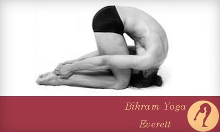 Bikram Yoga Everett - Paine Field-Lake Stickney: $20 for a 10-Class Punch Card at Bikram Yoga Everett ($120 Value)
