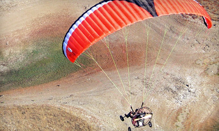 Discover Powered Paragliding - Ellington: Tandem Paragliding Experience with or without DVD at Discover Powered Paragliding in Fowler (Up to 53% Off)